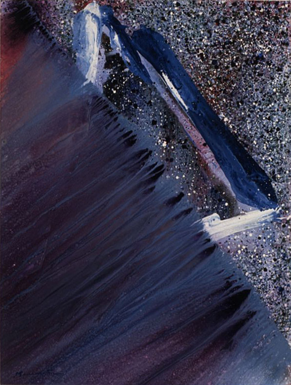 Pacific Series- August Night , 1990 acrylic on canvas 48 x 36 inches; 121.9 x 91.4 centimeters