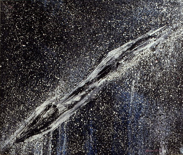 Summer Night , 1990 acrylic on canvas 60 x 70 inches; 152.4 x 177.8 centimeters