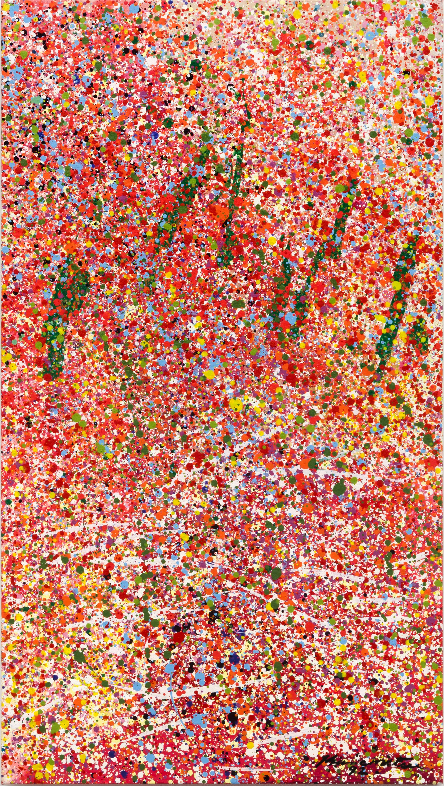 Untitled (J) , 1992 acrylic on canvas 36 x 20 inches; 91.4 x 50.8 centimeters