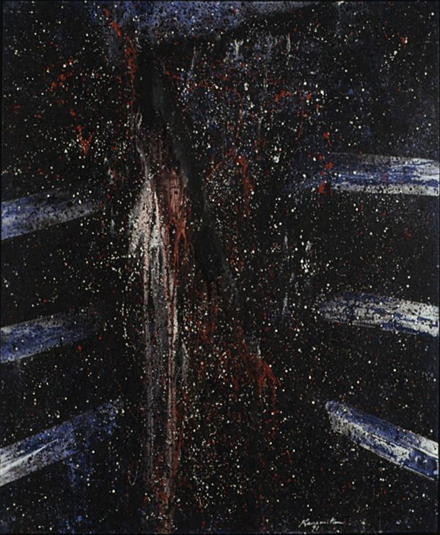 Untitled , 1991 acrylic on canvas 60 x 51 inches; 152.4 x 129.5 centimeters