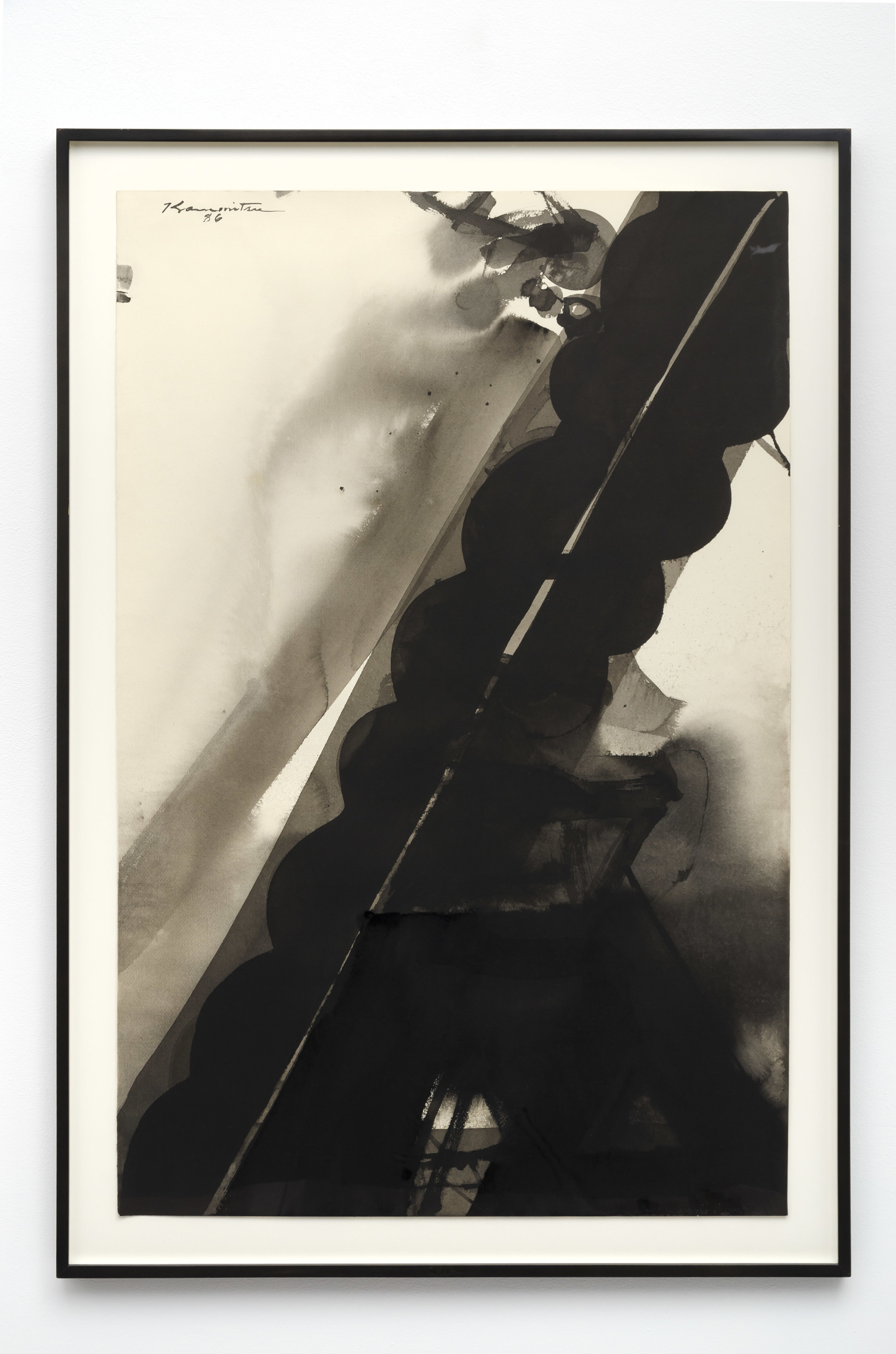 December Night , 1986 sumi on paper 44 3/8 x 30 5/8 inches; 112.7 x 77.8 centimeters