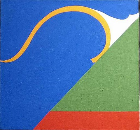 Berkeley # 19 , 1967 acrylic on canvas 20 x 22.25 inches; 50.8 x 56.5 centimeters  Gallery Sam, Berkeley