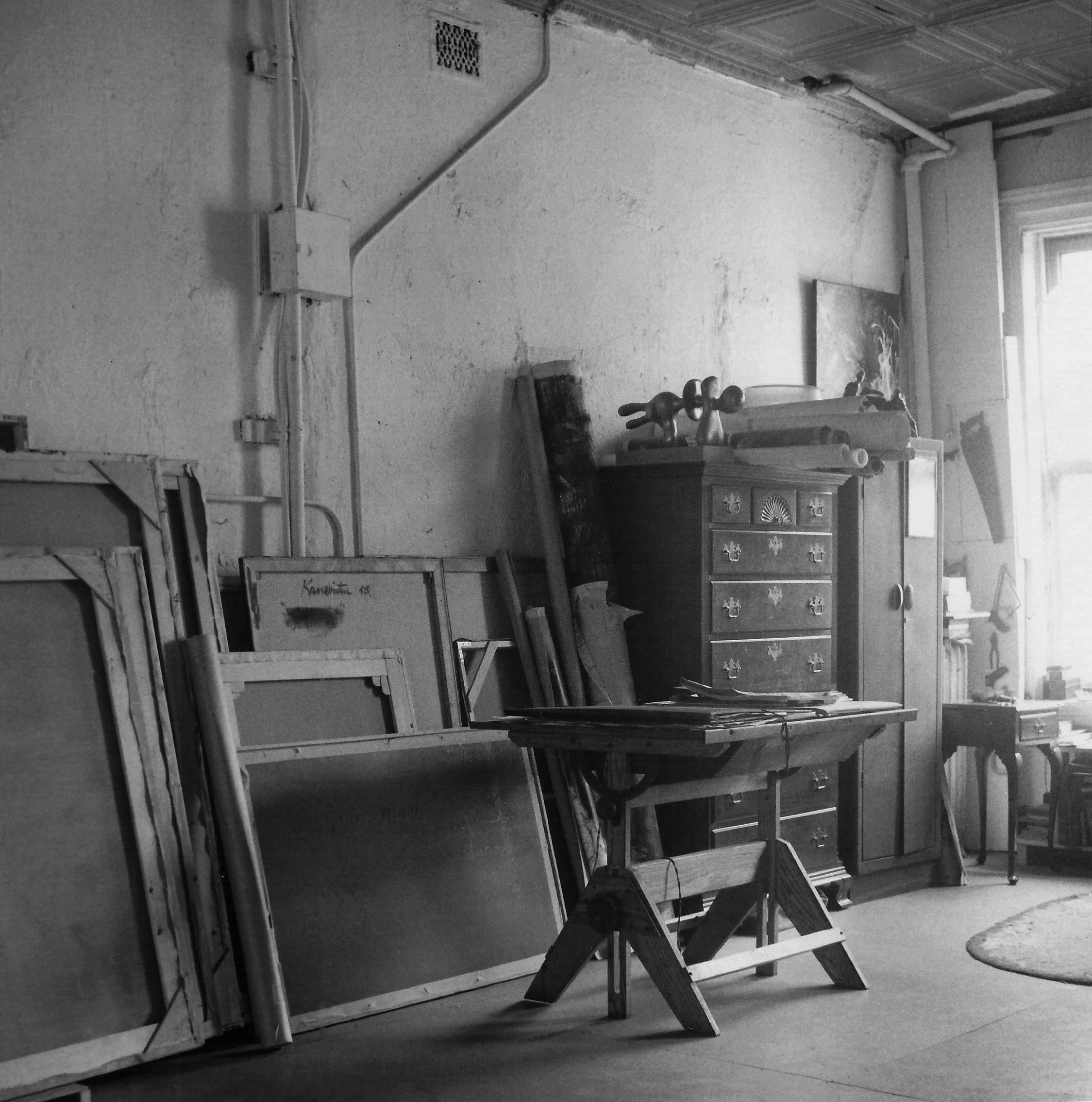 Kanemitsu's New York studio at 158 West 22nd Street.
