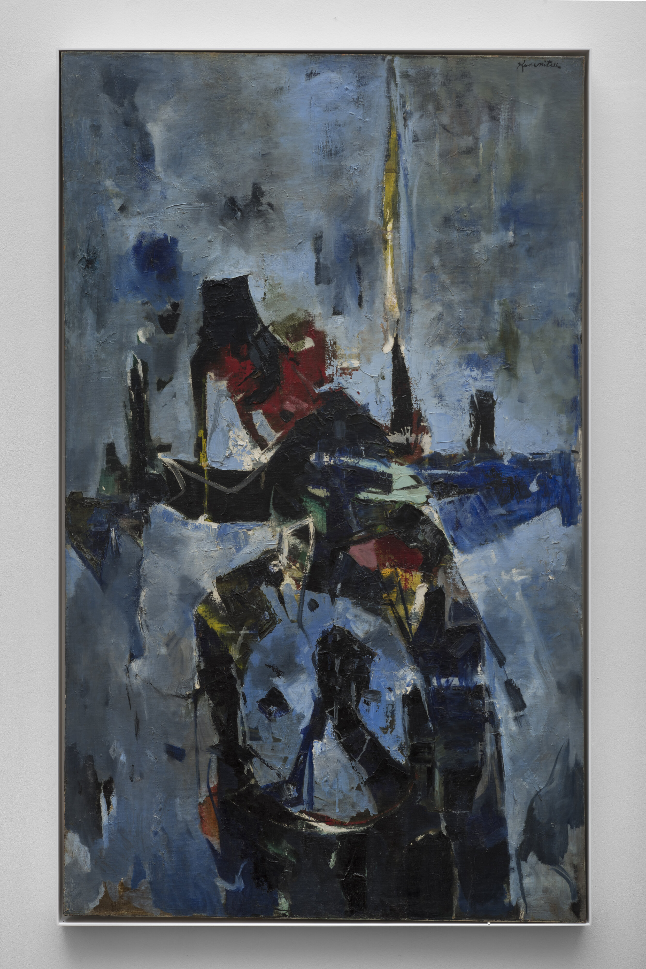 Sinking Bird , 1957 oil on canvas 50 1/2 x 30 inches; 128.3 x 76.2 centimeters