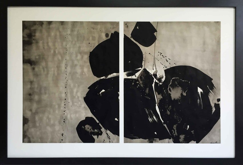 Icebox , 1959 sumi ink on paper 28 x 44 inches; 71.12 x 111.76 centimeters