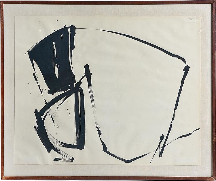December Group VIII , 1959 sumi ink on paper 23 x 28 3/4 inches; 58.42 x 73.03 centimeters