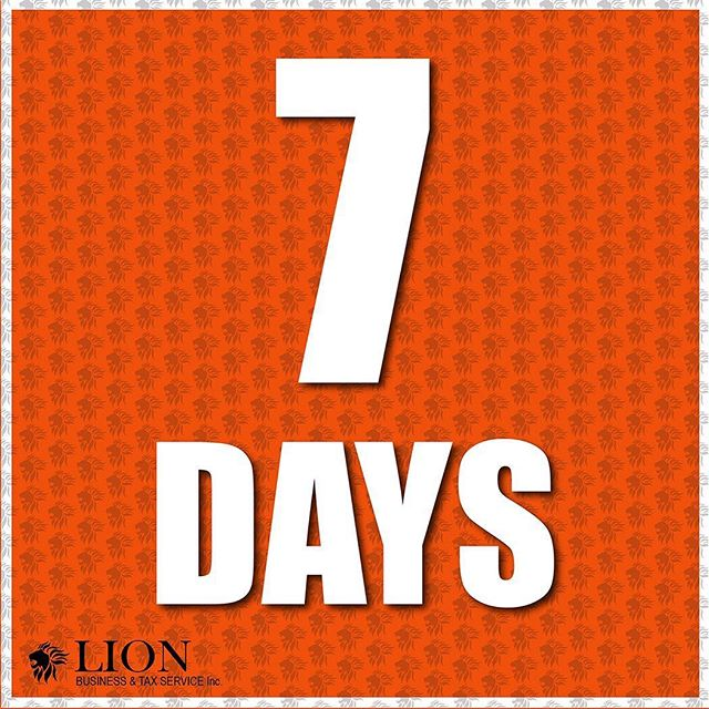 Only one week left until INCOME TAXES are due!! Don't be late and come to LION for your highest refund guarantee! Give us a call at 360 873 8041 or visit our website linked in our bio! #incometax #incometaxseason #lionbts