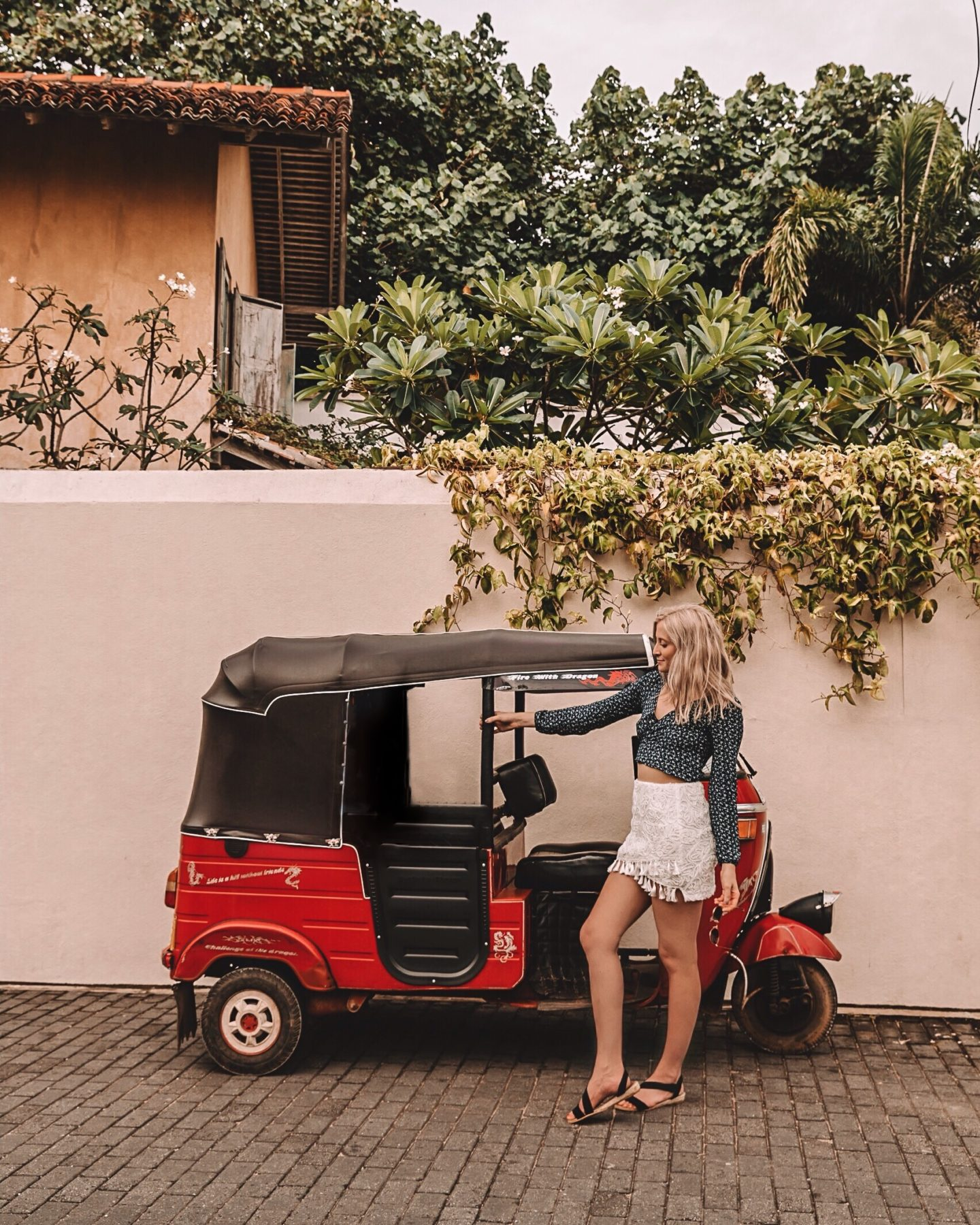 in Galle, Sri Lanka by a Tuk Tuk