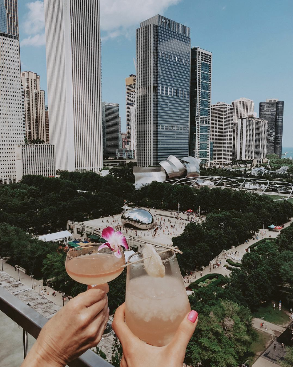 CINDYS ROOFTOP - I didn't make it to Cindy's Rooftop this past trip I took to Chicago due to rain, but it is on my list for next time! Such an amazing view and a perfect place for drinks & photos.(I got this photo from @cindysrooftop IG account!)