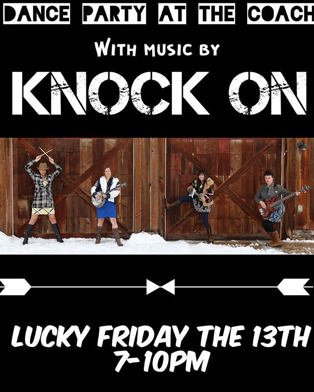Come dance with us! Wilson, Wyoming @ The Stagecoach Bar!  Also, celebrate Vicky Gouloff's Retirement 🎉 invite your friends!  #wyoming #jacksonhole #jacksonholelivemusic #KnockOnJH