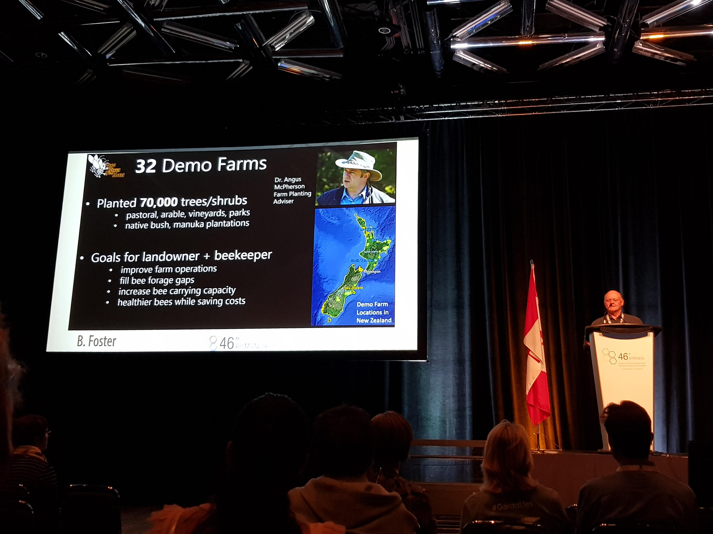 Barry Foster Presenting at Apimondia. Photo credit to Dr Young Mee Yoon, Honey NZ (International) Ltd