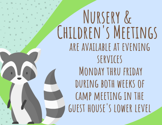 nursery and children's meetings