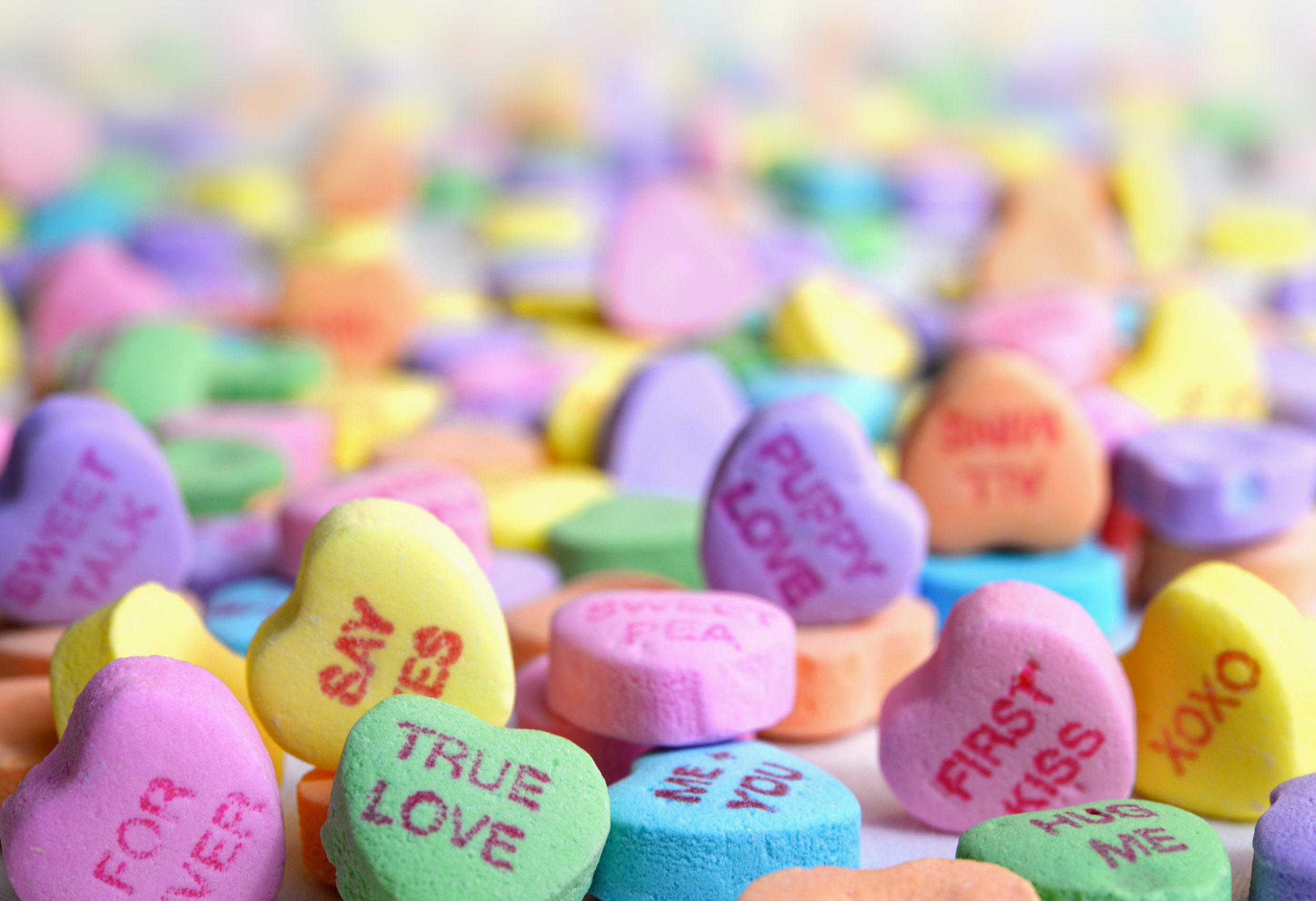 LOVE IS SWEET SHOW IT WITH SOME SUGAR - >>SHOP NOW>>Brach's classic tiny conversation hearts