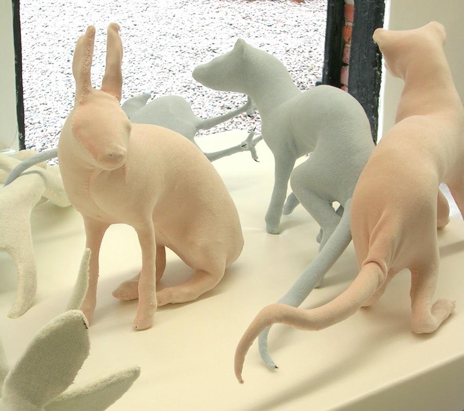uppstoppade djur, velourtyg, 2006