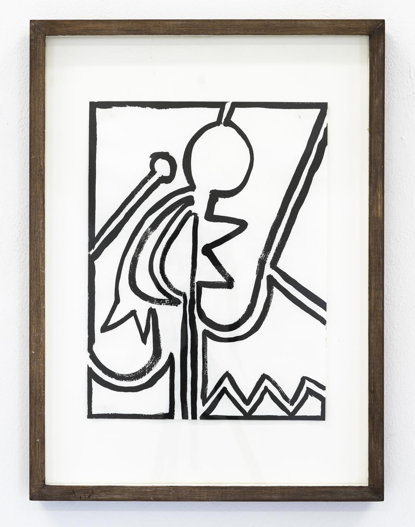 Markus Matt - Bläcket mot sumi-e pappret för tanken till kalligrafi. Teckningen har linjen gemensamt med skriften. Bilden är en mening, skriven inte från vänster till höger utan från pappret ut i rummet. Orden har inte längre en linjär följd, tidens flöde bryts. Orden är samtidigt.Dessa bilder, eller anteckningar, har liknande struktur som drömmar. I en dröm befann jag mig på en plats som var en skridskobana-eller-lekplats-eller-skolgård-eller-park.I drömmen var platsen allt detta samtidigt, och säkert mer. I språket måste den delas upp.I bilden sägs hela platsen på en gång./The ink against the sumi-e paper brings calligraphy to mind. Drawing has the line in common with writing. The image is a sentence, written, not left to right, but from the paper out into the room. The words no longer follow a linear path, the flow of time is interrupted. The words are at once.These images, or notes, have a similar structure to dreams. In a dream I was in a place which was an ice-skating-rink-or-playground-or-schoolyard-or-park. In the dream the place was all of this at the same time, and probably more. In language it has to be divided. In the image the whole place is said at once.Marcus Matt är född 1992 i Dalköpinge, bor och arbetar i Malmö. Han har en MFA från Malmö Konsthögskola 2017 och ställde ut på Arnstedt 2018. I år visar Marcus fyra teckningar i tusch som utförts i ett svep, samt två bronsskulpturer.Matt är representerad i Region Skånes Konstsamling Landstinget Dalarnas Konstsamling och erhöll Bernadottestipendiet 2017 vilket innebar ett års ateljéstipendium på Konstakademien där han även gjorde en stor utställning. Matt har även ställt ut på bland annat ANNAELLE Gallery i Stockholm och Kunsthal Aarhus i Århus.