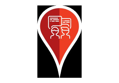 Engagera och agera - Delta i konversationen, svara på frågor, kommentarer och recensioner för att visa upp ditt företag på Google och Facebook, direkt från PinMeTo-instrumentpanelen. Snabbt, smidigt och enkelt.