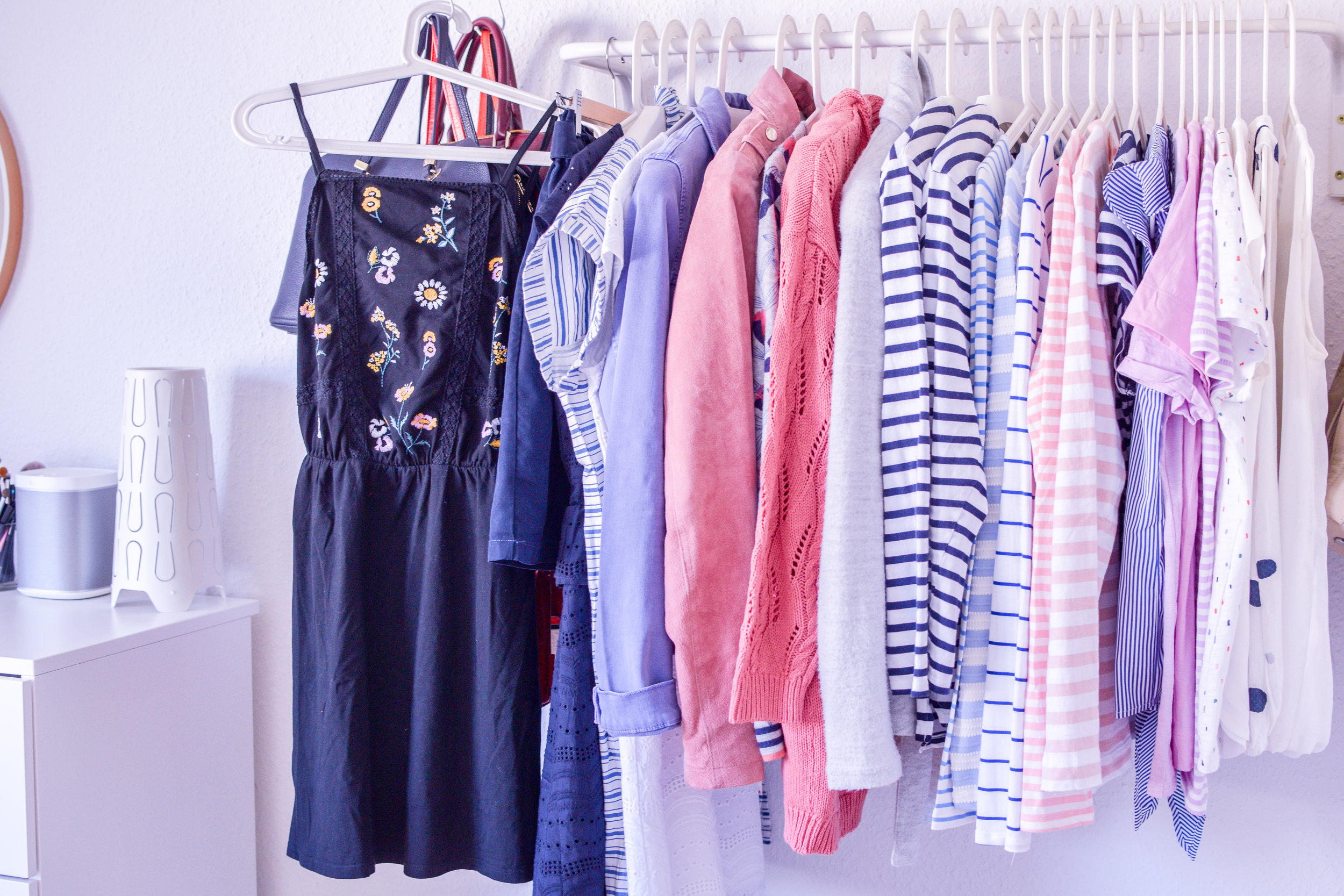 capsule wardrobe dresses and shirts