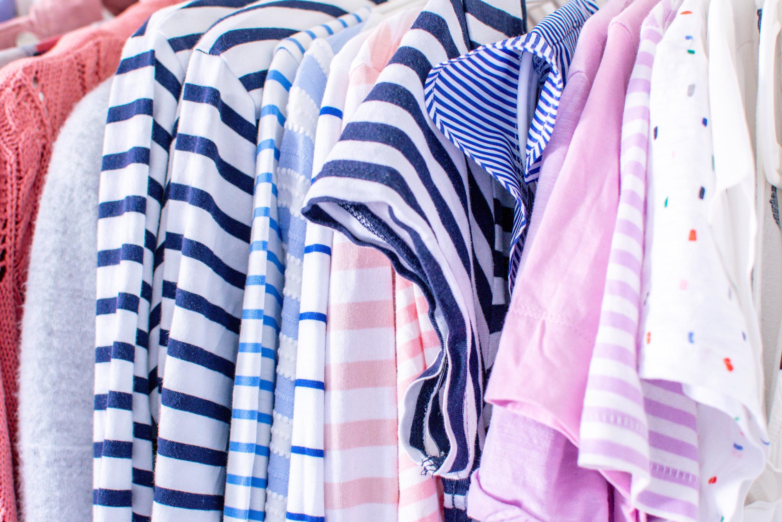 capsule wardrobe striped longsleeves pink t-shirt
