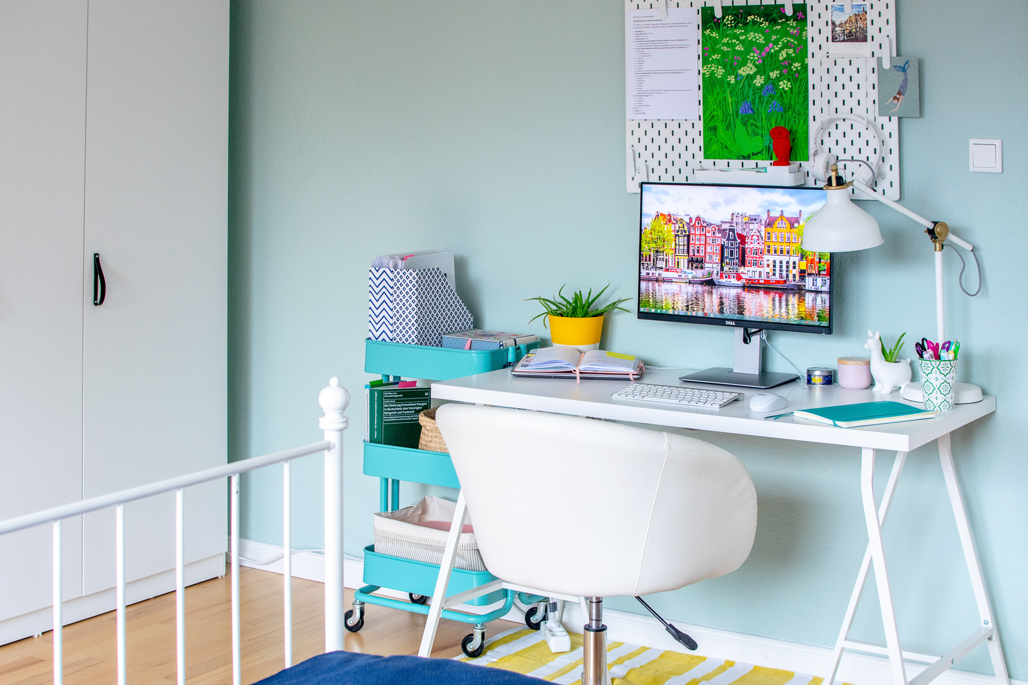 colourful home office