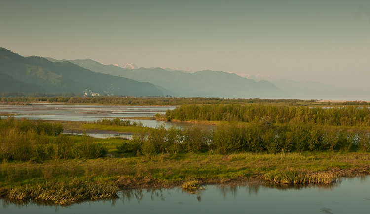 View from the Chorokhi Delta to the south. Photo by Brecht De Meulenaer.