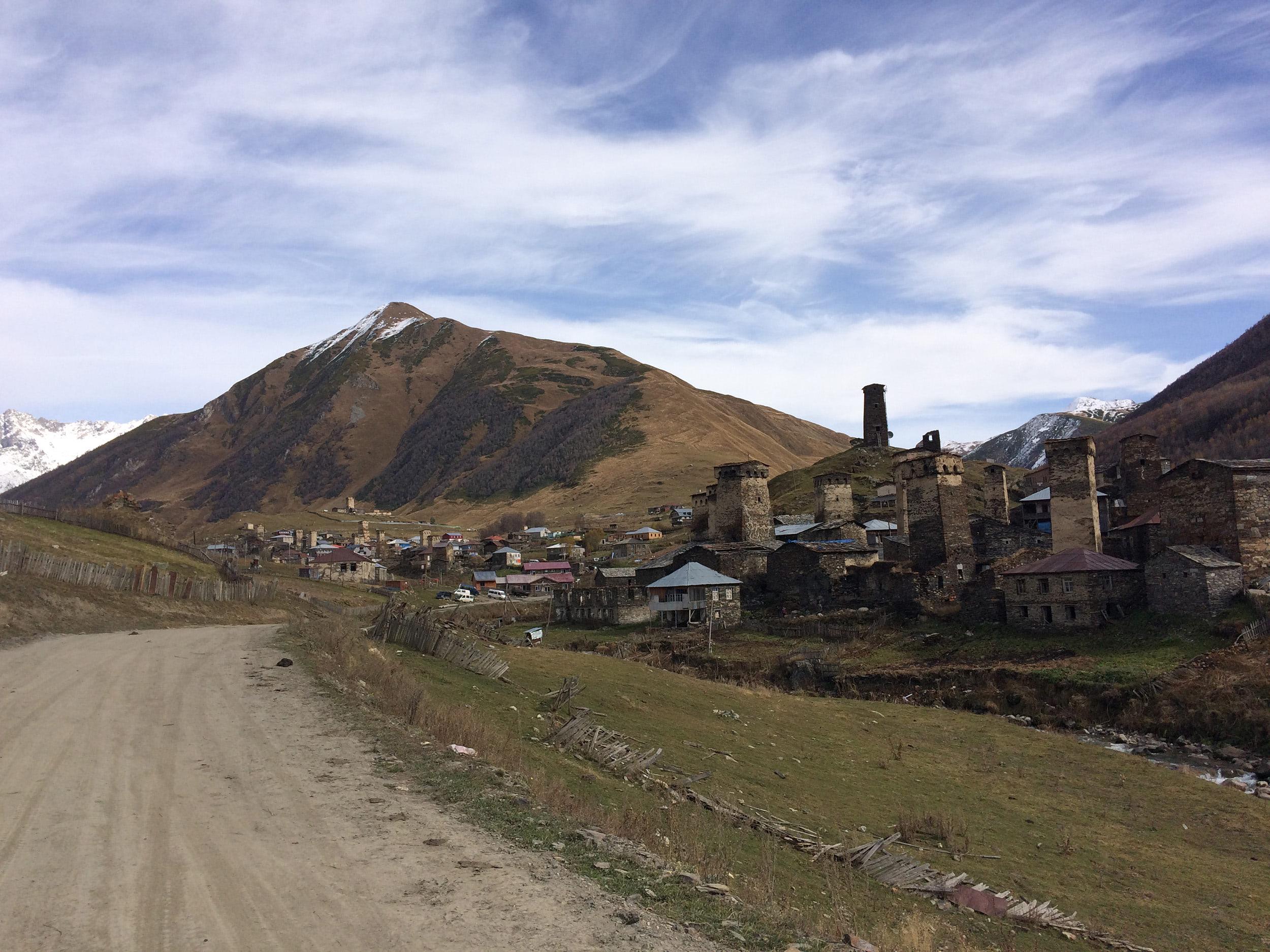 Svan village with typical towers. Photo by Gocha Kakulia.