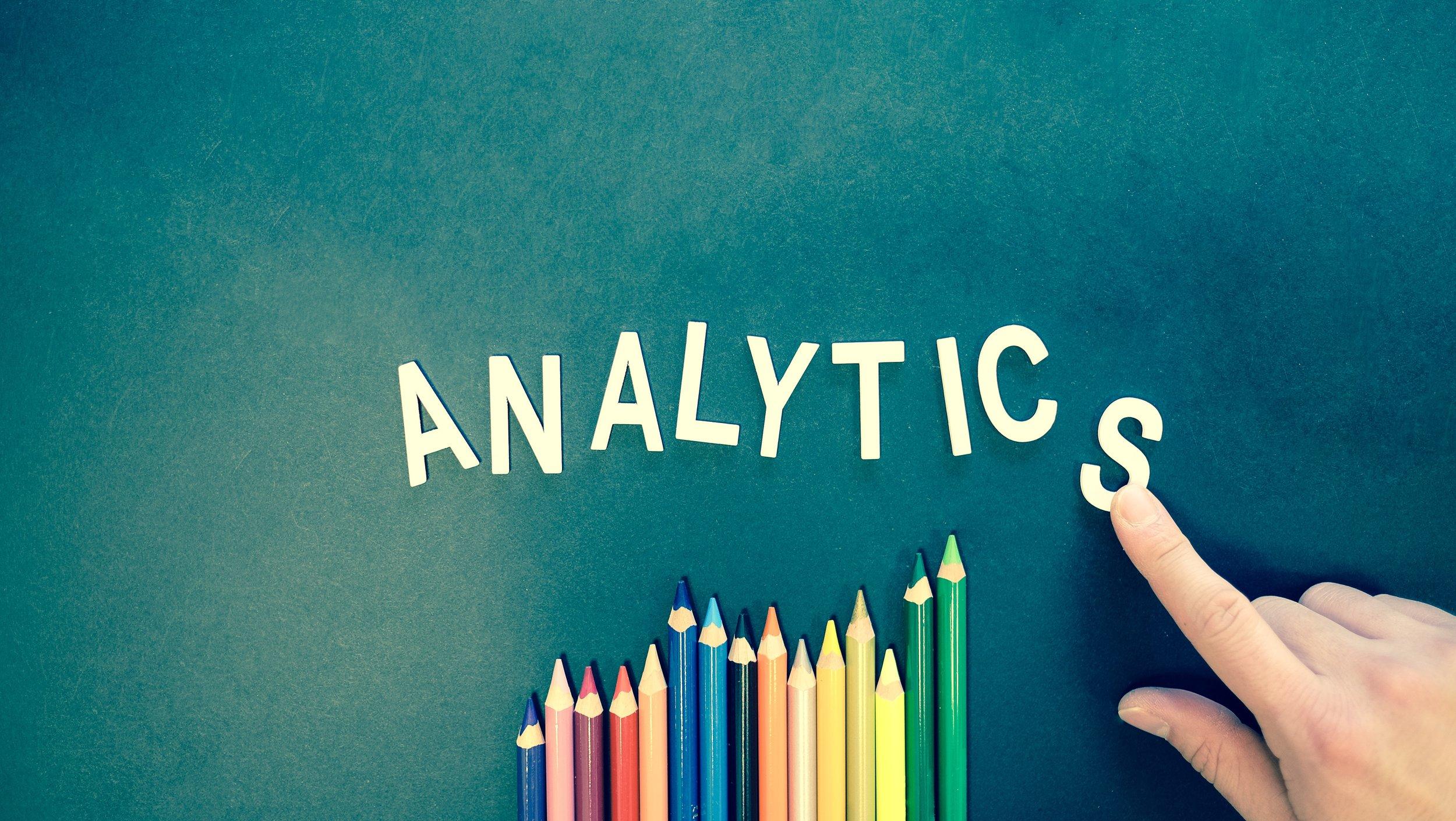 analytics coloured pencils