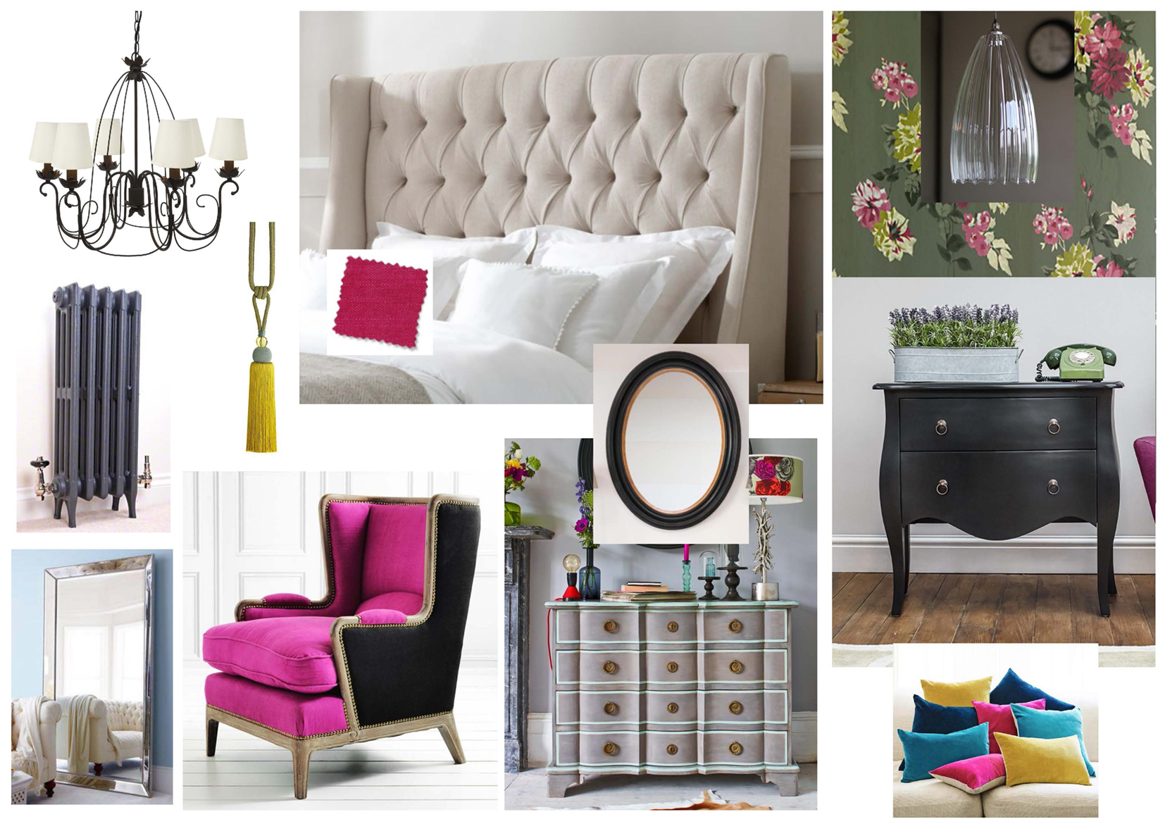 Inspirational interiors mood board