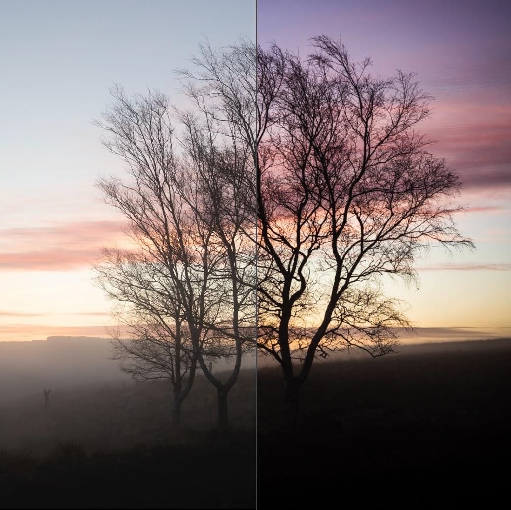 Esa imagem já saiu da câmara fotográfica com umas cores e um contraste muito bons como se pode ver na imagem à esquerda (antes). No entanto, com pequenos ajustes no Lightroom conseguimos criar uma imagem com muito mais presença e impacto como podemos observar do lado direito (depois).