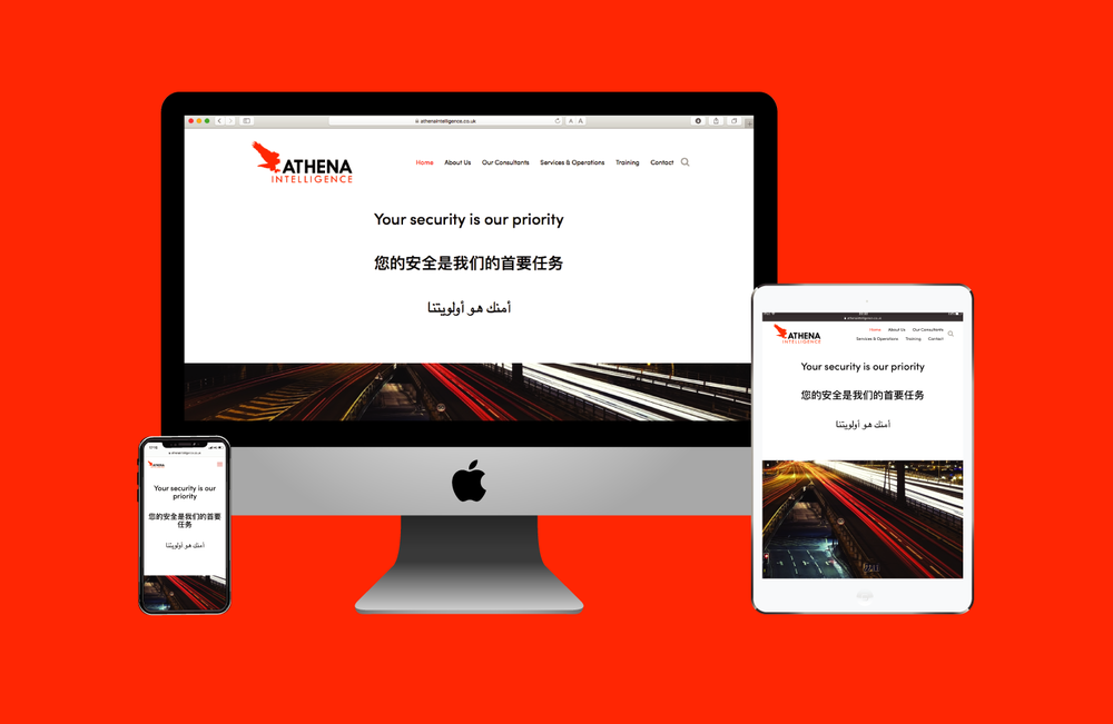 Athena Intelligence website