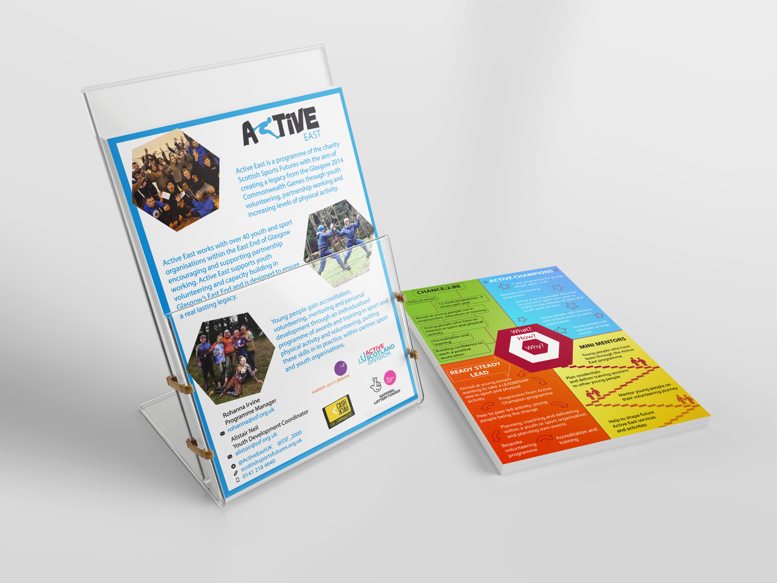Active East promotional flyers