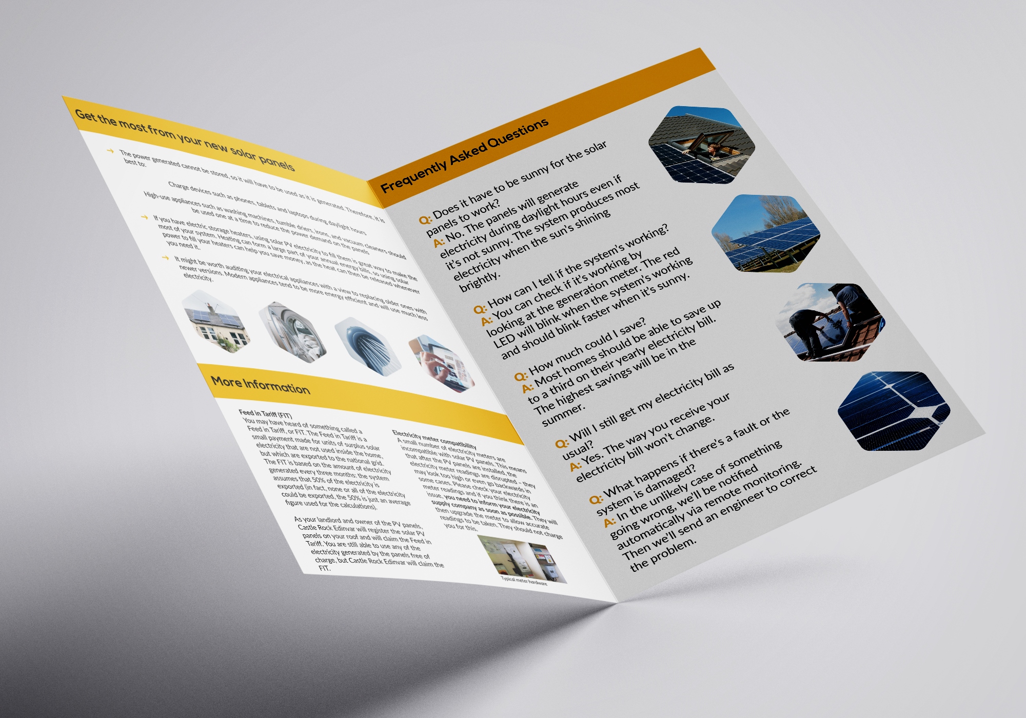 Absolute Solar and Wind customer information booklet interior