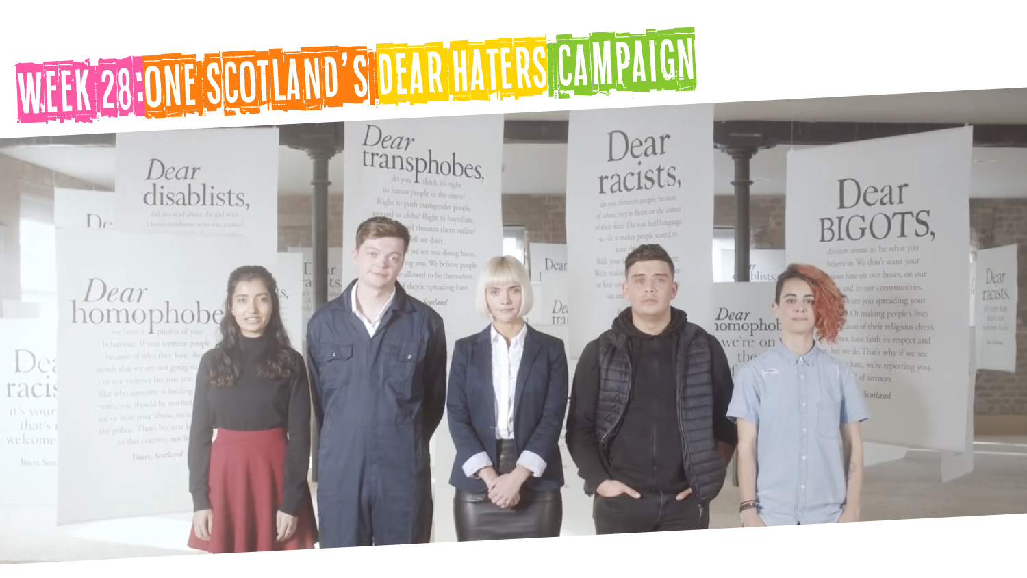 IYM Week 28: One Scotland's Dear Haters Campaign