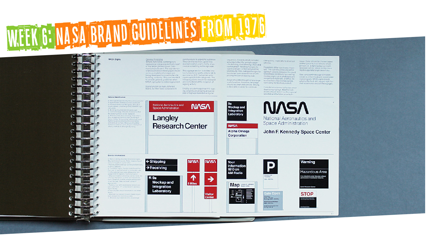 IYM Week 6: NASA Brand Guidelines from 1976