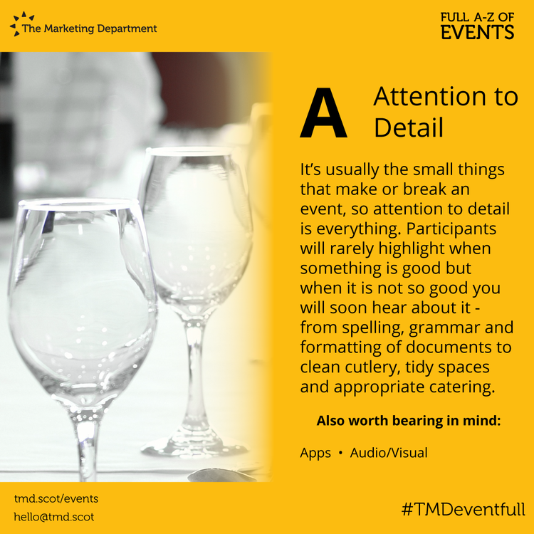 EventFull: A is for Attention to Detail