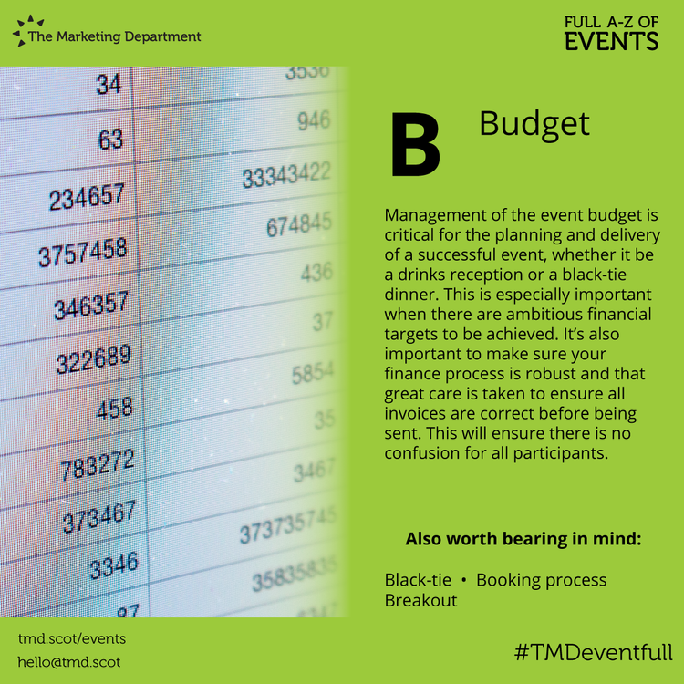EventFull: B is for Budget