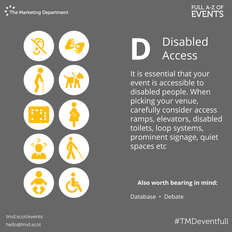 EventFull: D is for Disabled Access