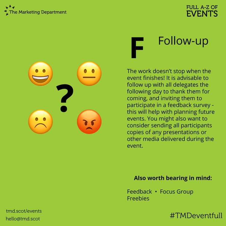 EventFull: F is for Follow-Up