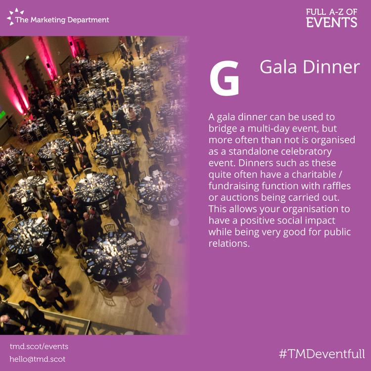 EventFull: G is for Gala Dinner