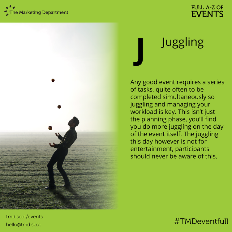 EventFull: J is for Juggling