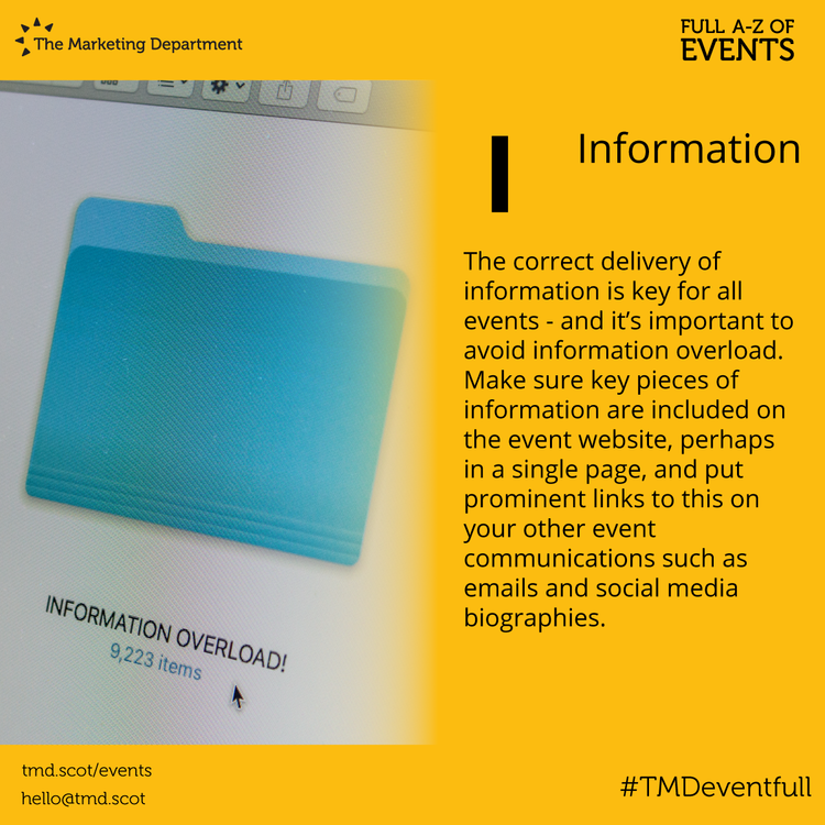 EventFull: I is for Information