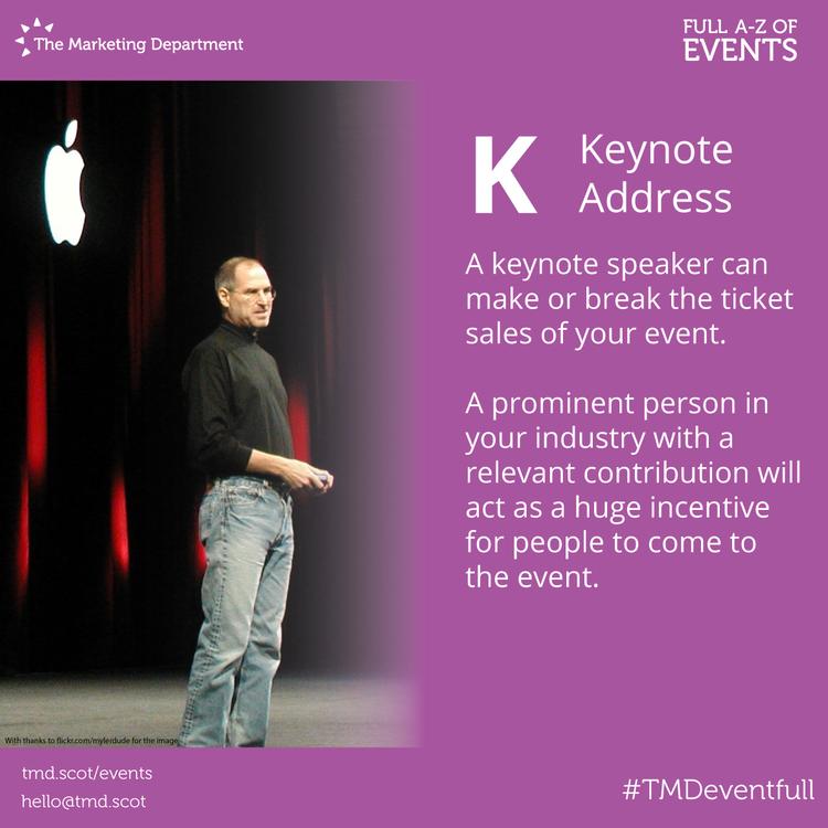 EventFull: K is for Keynote Address