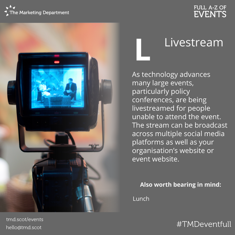 EventFull: L is for Livestream