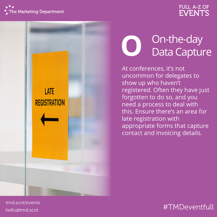 EventFull: O is for On-the-day Data Capture