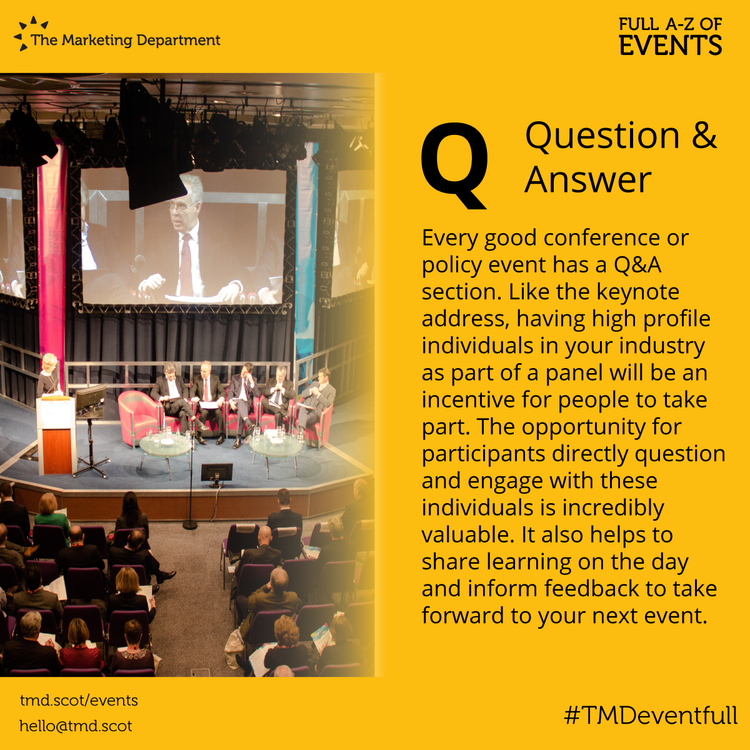 EventFull: Q is for Question & Answer