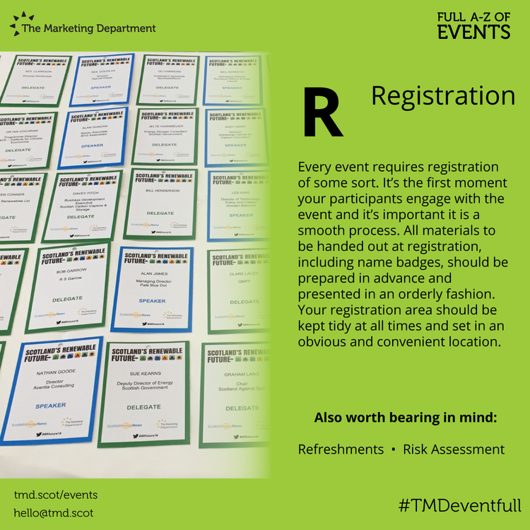 EventFull: R is for Registration