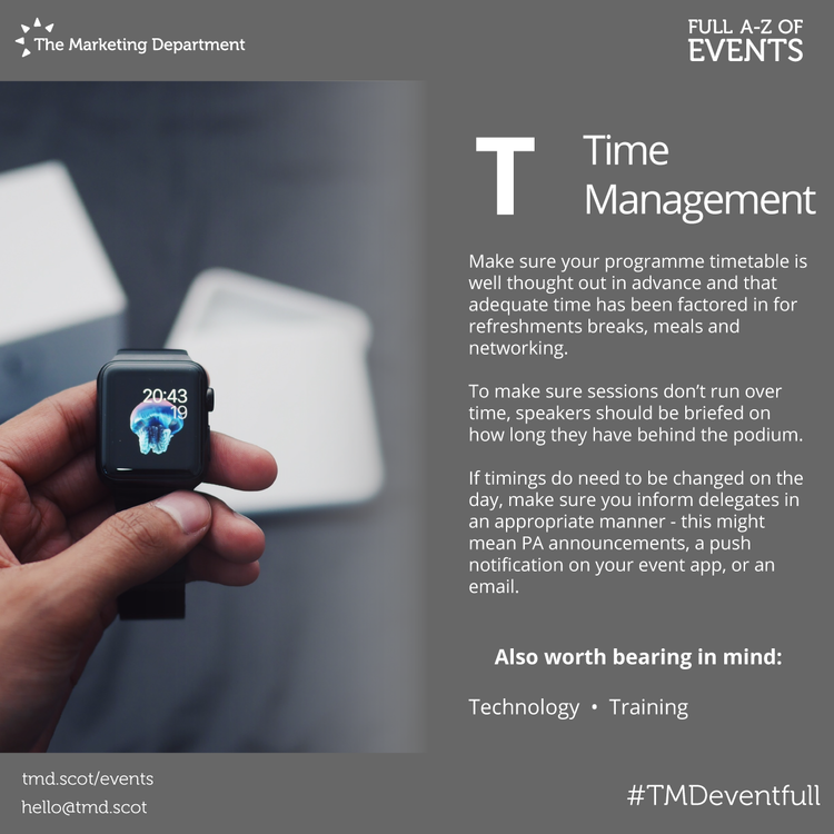 EventFull: T is for Time Management