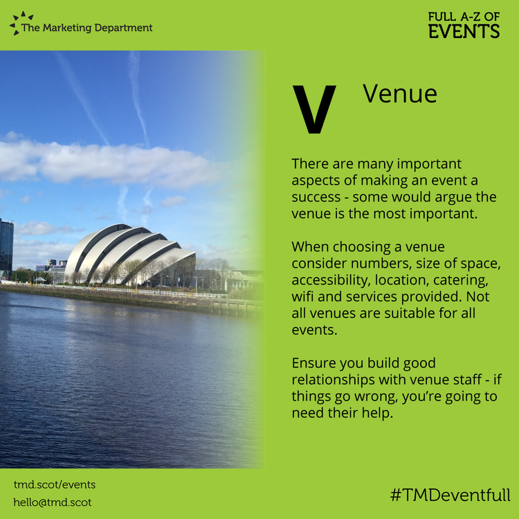 EventFull: V is for Venue