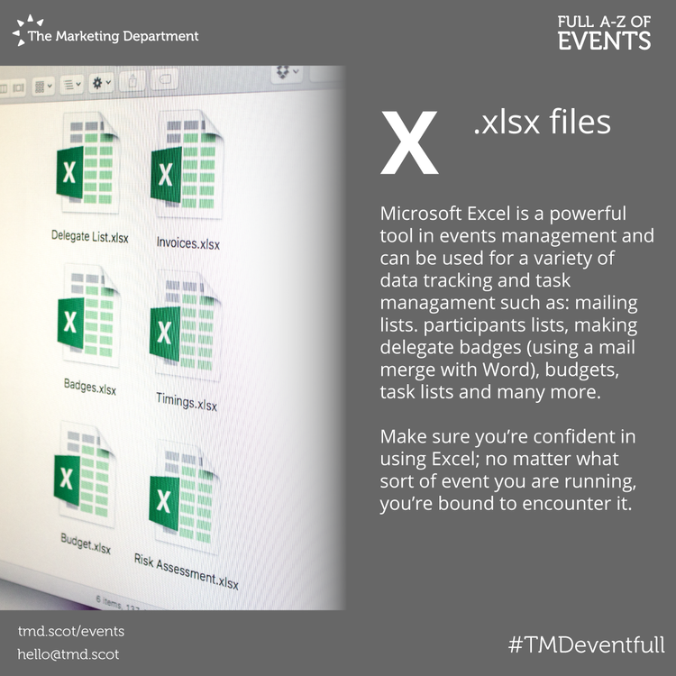 EventFull: X is for Xlsx files