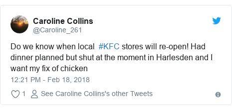 Twitter response to KFC