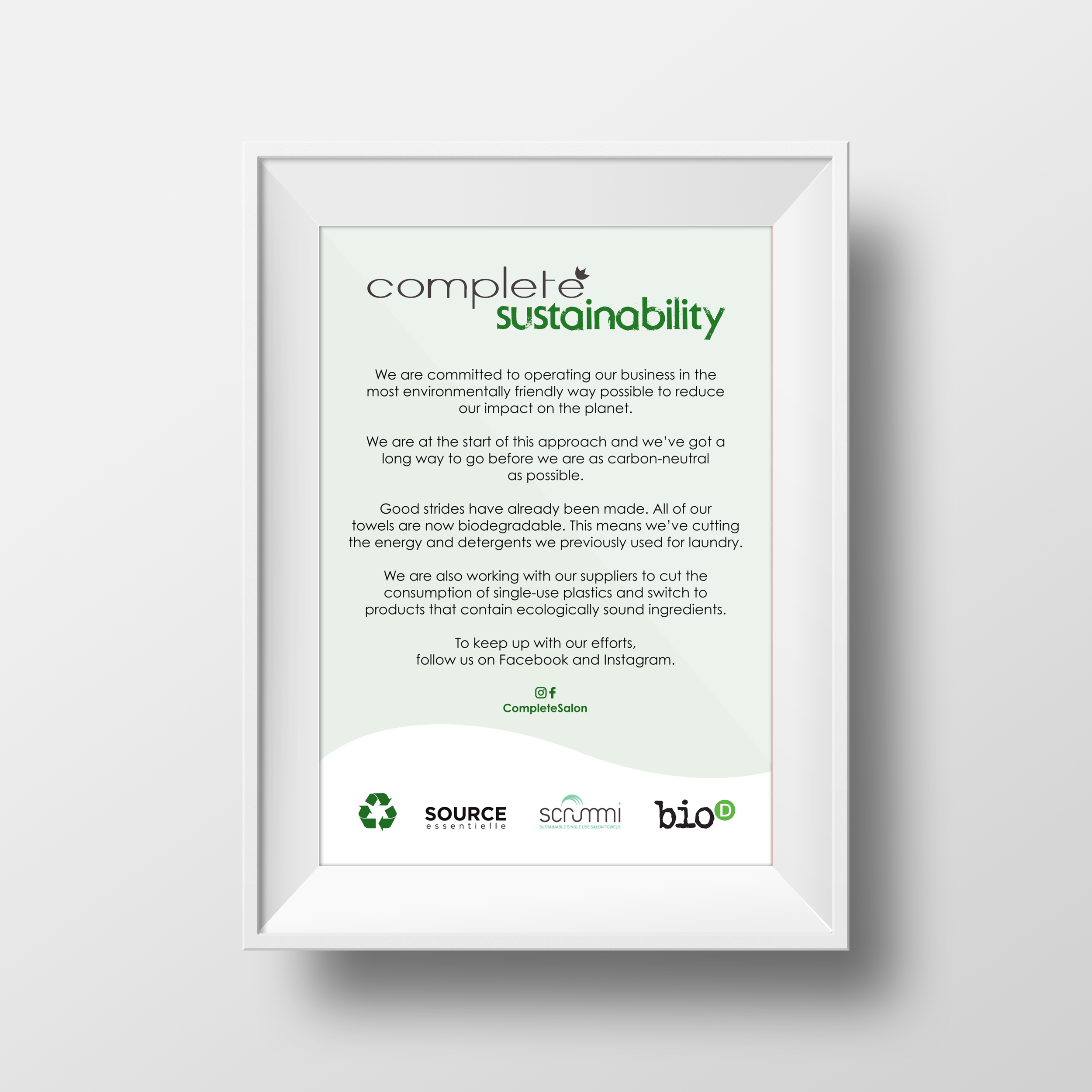 Complete Sustainability poster